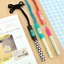 1pcs Cute Neck Strap Ball Point Pen 0.7mm Black School Party Supplies Stationery