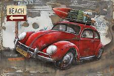 Handmade Metal Picture Beetle ca. 120x80 cm Art Picture 3d-LOOK