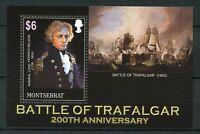 Montserrat 2005 MNH Battle of Trafalgar 200th 1v S/S Horatio Nelson Ships Stamps