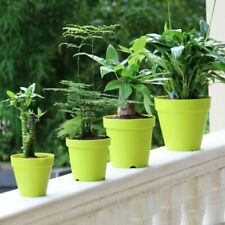 Plastic Clay Plant Pot Pastoral Style Flower Vase Planter For Home Garden Supply
