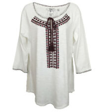 NEW WOMAN'S EX FAT FACE IVORY EMBROIDERED KAFTAN STYLE TOP NEW SIZES 6-16