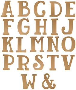 Gold Wooden Initial Letter Sass & Belle Monogram Alphabet Home Gift Decor UK New