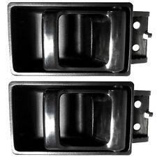 for Nissan Interior Inside Inner Door Handle Driver or Passenger Side Black Pair