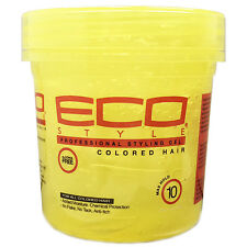 [ECO STYLER] PROFESSIONAL STYLING GEL MAX HOLD COLORED HAIR 8OZ YELLOW