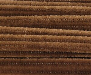 """Lot of 100 Brown 12"""" Long x 1/4"""" 6mm Wired Pipe Cleaners Craft Chenille Stems"""