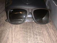 Ray Ban Justin 4165 854/7Z 54 Rubber Brown Grey Green Gradient Rayban Sunglasses