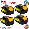 4 Pack for Dewalt DCB205 20V 20 Volt XR Lithium Ion 6.0 AH DCB206 Battery DCB200