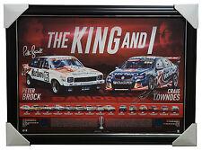 Peter Brock The King & I Signed Craig Lowndes V8 Racing Tribute Frame Bathurst