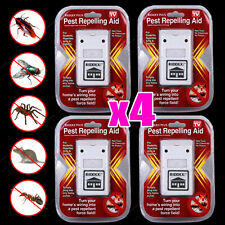 4 X RIDDEX Plus Electronic Ultrasonic Pest Control, Repeller, Spiders Rats Mice