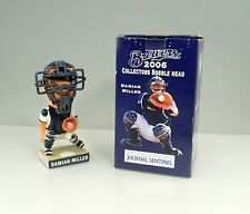 2006 Milwaukee Brewers Damian Miller Bobblehead In Box Removable Face Mask