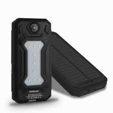 9LED Solar Power Bank 50000mAh 2USB Portable Battery Charger for Smart Phone