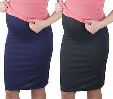 Maternity pencil skirt Knit fabric Skirt Over Bump size UK 8 10 12 14 16
