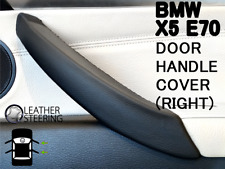 Black Right Inner Door Panel Handle Pull Trim Leather Cover For BMW E70 X5