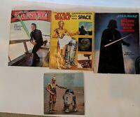 4 Vintage 70s 80s Star Wars Book Lot Empire Strikes Back, Return of Jedi