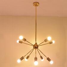 Mid Century Modern Brass Sputnik atomic chandelier starburst light Fixture Light