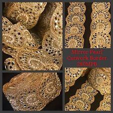 9 Yards Fancy Zari Trim Indian Sari Mirror Cutwork Border Handmade Lace Fringe
