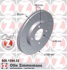 Disque de frein avant ZIMMERMANN PERCE 600.1594.52 AUDI COUPE 2.1 GT 131ch 81, 8
