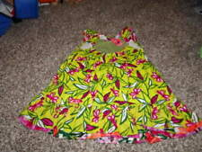 CATIMINI 98 3 3T GREEN BUTTERFLY  FLORAL DRESS