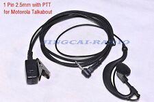 PTT Earpiece Earphone Headset for Motorola Talkabout Cobra Radio 1 Pin 2.5mm