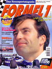 Sport automobile revue magazine 12-1996 formule 1 H H. Frentzen * Damon Hill