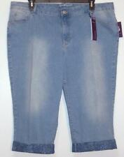 NWT Gloria Vanderbilt Alexandra Slimming Affect Stretch Denim Capri Jeans 22W
