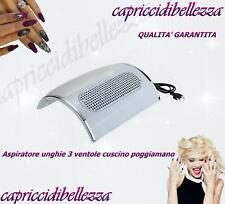 Aspiratore unghie 3 ventole con cuscino poggiamano -  aspira polvere - Nail Art