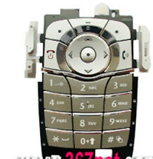 RICAMBIO TASTI TASTIERA per MOTOROLA V600 V620 SILVER GRIGIO Cover Guscio Keypad