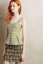 NEW ANTHROPOLOGIE Cabana Peplum Tank Top L Large by HD in Paris Green