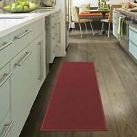 Ottomanson Oscar Collection Anti-Slip Solid Color Runner Rug