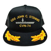 DIGITAL CAMOUFLAGE FLAT BILL SNAPBACK USS JOHN C STENNIS CVN-74 BATTLESHIP