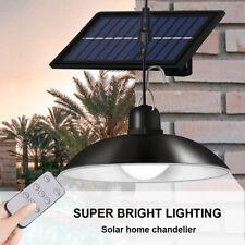 Solar Powered Lights Outdoor Indoor Garden Porch Shed Lighting Ceiling Lamp UK