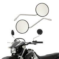 Black universal motorcycle round M10 10mm rear view  mirror Harley Suzuki Honda