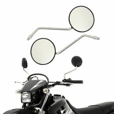 1 Pair Handlebar Round Rear View Side Mirrors for Postie Bike Scooter Motorcycle