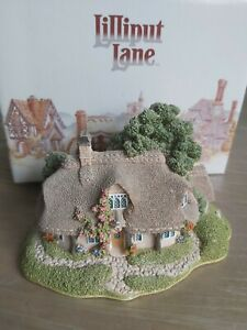 classic LILLIPUT LANE : RUSTIC ROOT HOUSE ORNAMENT COLLECTABLE