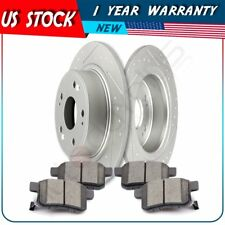 Rear Disc Brake Rotors And Ceramic Pads Fits Acura TSX Honda Accord Coupe Sedan