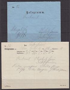 Bavaria, 1894 Telegram & Envelope VF