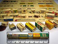 20 Color Kartons in 1:43 - 1:32 für Diorama, Slotbahn, Ladegut, Werkstatt