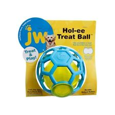 JW Hol-ee Dog Treat Ball Durable Rubber Treat Dispenser Interactive Puppy Toy