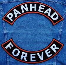 Large PANHEAD Rocker Set Biker Motorcycle  Patch