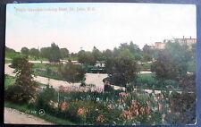 CANADA ST JOHN N B PUBLIC GARDENS closeup view 1900s