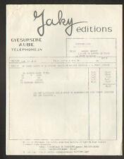 """GYE-sur-SEINE (10) IMPRIMERIE / EDITEUR de CARTES POSTALES """"JAKY Editions"""" 1961"""