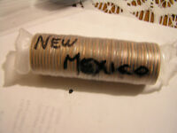 """2008-P NEW MEXICO STATE QUARTER """"""""BRILLIANT"""" UNCIRCULATED UNOPENED MINT ROLL!!"""