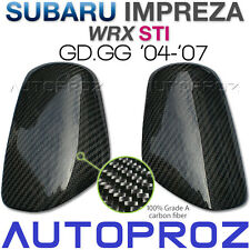 Carbon Fiber Car Side Mirror Cover For Subaru WRX STI GD GG GDB 2004-2007 AT