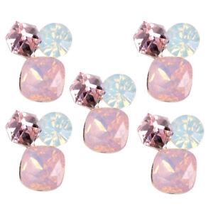 5Pcs Crystal Rhinestone Shank Button Flatback Sewing Embellishments Wedding