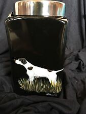 German Shorthaired Pointer ceramic canister - Handpainted, original art Blasius