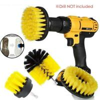 Cleaning Drill Brush Carpet Tile Power Scrubber Tub Cleaner Attachment kit 3PCS