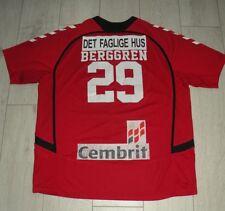 Aalborg Håndbold #29 Berggren Match Worn Hummel Shirt Handball Jersey Trikot