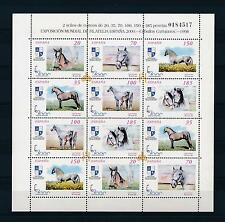 [28475] Spain 1998 Animals Horses MNH Sheet