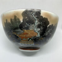 Black And Gold Japanese Ware Rice Bowl