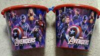 Marvel Avengers Endgame Jumbo Plastic Buckets - Set of 2